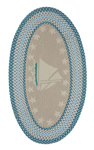 Capel Hyport 0383-420 Sailboat Surf Area Rug