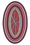 Capel Hyport 0384-500 Compass Red Area Rug