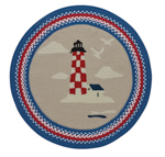 Capel Hyport 0385-500 Lighthouse Red Area Rug