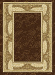 United Weavers China Garden 050 22651 Ebony Crest Chocolate Closeout Area Rug