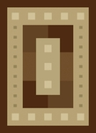 United Weavers China Garden 050 31951 Mystic Square Chocolate Closeout Area Rug