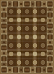 United Weavers China Garden 050 32351 Checkers Chocolate Closeout Area Rug