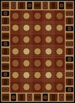 United Weavers China Garden 050 32358 Checkers Auburn Closeout Area Rug