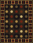 United Weavers China Garden 050 32370 Checkers Black Closeout Area Rug
