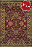Oriental Weavers Patina 051C8 Dark Red Closeout Area Rug