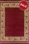 Oriental Weavers Genre 055R1 Red Closeout Area Rug