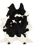 Couristan Chalet Cowhide Leather Skins 0761/0800 Redingote Ivory-Black Area Rug