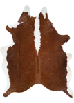 Couristan Chalet Cowhide Leather Skins 0761/0920 Redingote Ivory-Brown Area Rug