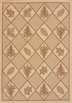 United Weavers Solarium 101 40550 Woven Pine Brown Closeout Area Rug