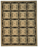 Peel & Company Needlepoint 1015-G Directorie Green Closeout Area Rug