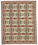 Peel & Company Needlepoint 1015-R Directorie Red Closeout Area Rug