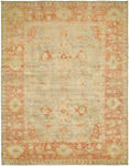 HRI Ottoman 105 Light Blue/Rust Area Rug