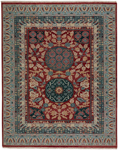 Capel Estate 1111-525 Journey Red Teal Area Rug