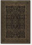Couristan Baroque 1119/1019 Parker Noir/Golden Yellow Closeout Area Rug - Spring 2011