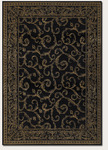 Couristan Baroque 1121/1019 Darcy Scroll Noir/Golden Yellow Closeout Area Rug - Spring 2011