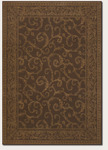 Couristan Baroque 1121/1021 Darcy Scroll Cocoa/Golden Yellow Closeout Area Rug - Spring 2011