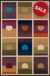 Oriental Weavers Andy Warhol Pop Abstracts 112X Setting Suns Multi Closeout Area Rug