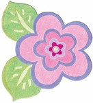Rug Market Kids Floral 11425 My Pretty FLower Pink/Green/Purple Area Rug