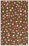 Rug Market Kids 11527 Sprinkles Brown Pink/White Closeout Area Rug