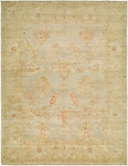 HRI Ottoman 115 Light Blue/Camel Area Rug