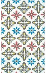Rug Market Kids 11748 Daisy Tile White/Brown/Red Closeout Area Rug