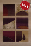 Oriental Weavers Andy Warhol Factory 1174W Windowpane Burgundy Closeout Area Rug