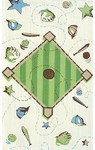 Rug Market Kids My First Rug 11753 Play Ball Yellow/Green/Brown Area Rug