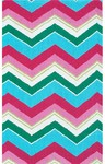 Rug Market Kids 11754 See Saw Blue/Green/Pink Closeout Area Rug