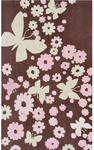 Rug Market Kids Tween 11758 Sparkle Flies Brown/Pink/Beige Area Rug