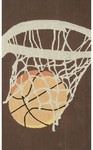 Rug Market Kids Sporty 11788 Hoops Brown/Cream/Orange Area Rug