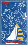 Rug Market Kids Nautical 11794 1853 Blue/Red/Yellow Area Rug