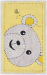 Rug Market My First Rug 11852 Bee-Z-Bear Yellow/Grey Area Rug