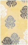 Rug Market Kids Tween 12362 Brocade Yellow/White/Grey Area Rug