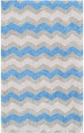 Rug Market Kids Tween 12388 Ziggy-Zaggy Blue/Grey Area Rug