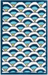 Rug Market Kids Tween 12391 Chi-Lin Blue/White/Teal Area Rug