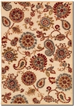 Couristan Cire 1386/6262 Marlow Antique Cream/Ruby Closeout Area Rug - Spring 2017