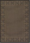 Couristan Recife 1523/0121 Summer Chimes Cocoa/Black Closeout Area Rug - Spring 2015