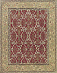 Nourison Sixteenth Century 1605 RED Red Closeout Area Rug