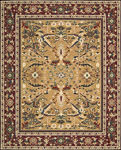 Nourison Sixteenth Century 1635 GLD Gold Closeout Area Rug