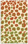 Rug Market Kids My First Rug 16470 Jungle Cheetah Cream/Green/Rust Area Rug