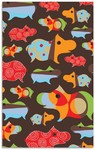 Rug Market Kids 16480 Hippo Brown/Orange/Red Closeout Area Rug