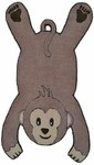 Rug Market Kids Safari 16491 Monkey Brown Area Rug