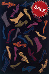 Oriental Weavers Andy Warhol Signature 1B Shoes Galore Black/Multi Closeout Area Rug