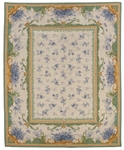 Peel & Company Needlepoint 2002-B Habersham Blue Toile Fruit Closeout Area Rug