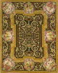 Peel & Company Needlepoint 2005B Chinese Tea Brown Closeout Area Rug