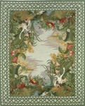 Peel & Company Needlepoint 2006 Bergl Fantasy Closeout Area Rug