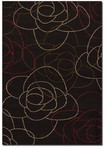 Couristan Contempo 2065/0065 Abstract Rose Charcoal Closeout Area Rug - Spring 2011