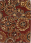 Karastan English Manor 2120-550 Chesterfield Red Closeout Area Rug