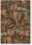 Couristan Covington 2166/8066 Boca Retreat Light Cocoa/Fern Closeout Area Rug