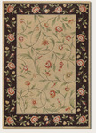 Couristan Covington 2176/0760 Catesby Garden Ivory/Black Closeout Area Rug